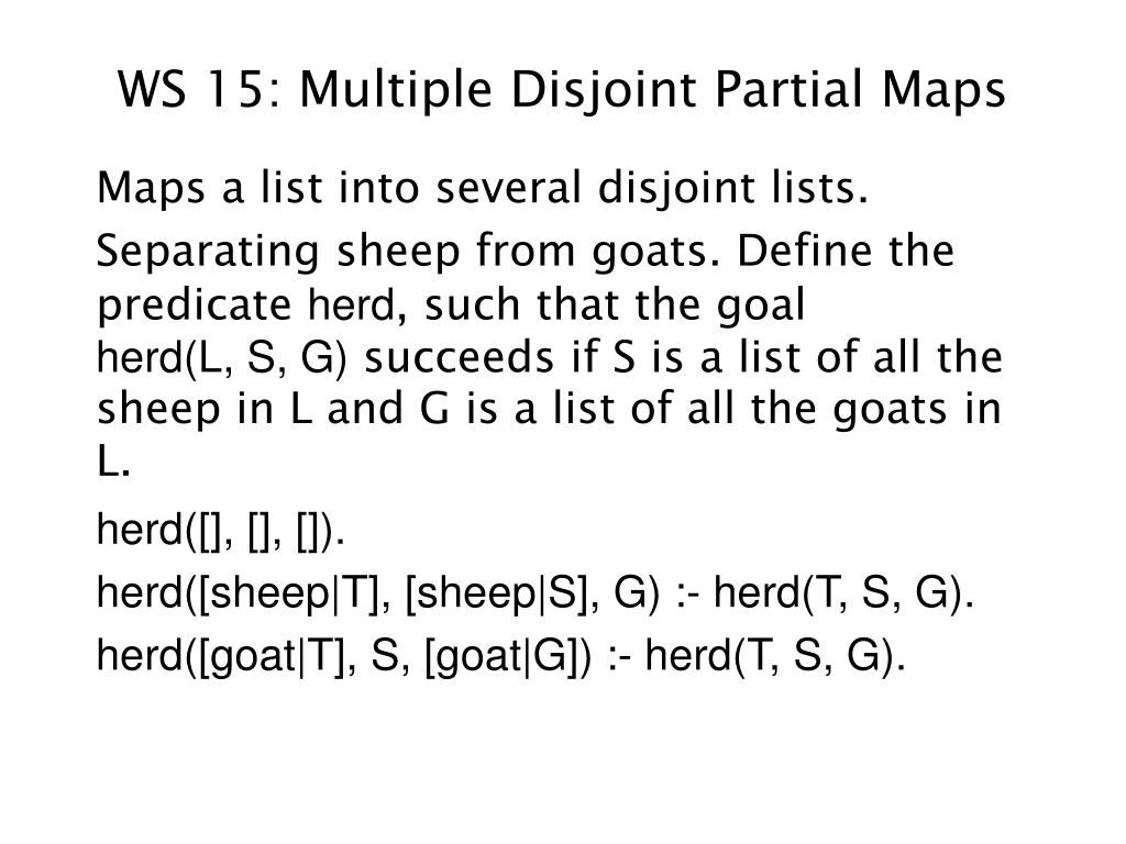 WS 15: Multiple Disjoint Partial Maps
