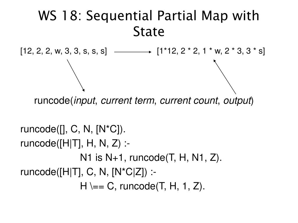 WS 18: Sequential Partial Map with State