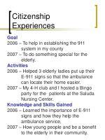 citizenship experiences