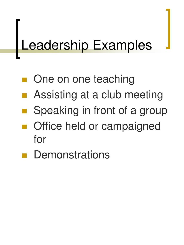 Leadership Examples