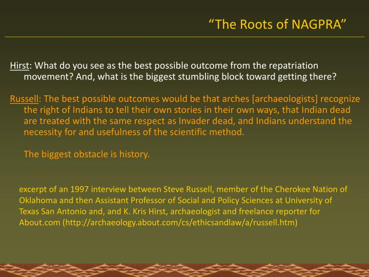 """The Roots of NAGPRA"""