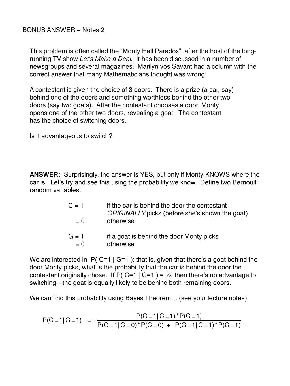 BONUS ANSWER – Notes 2