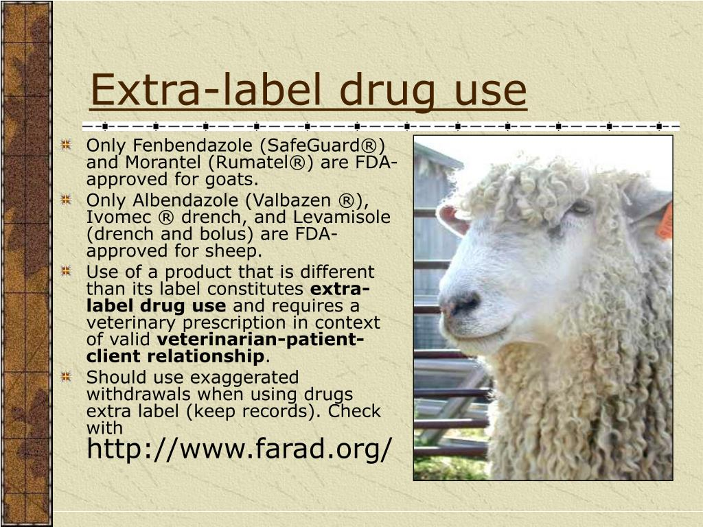 Extra-label drug use