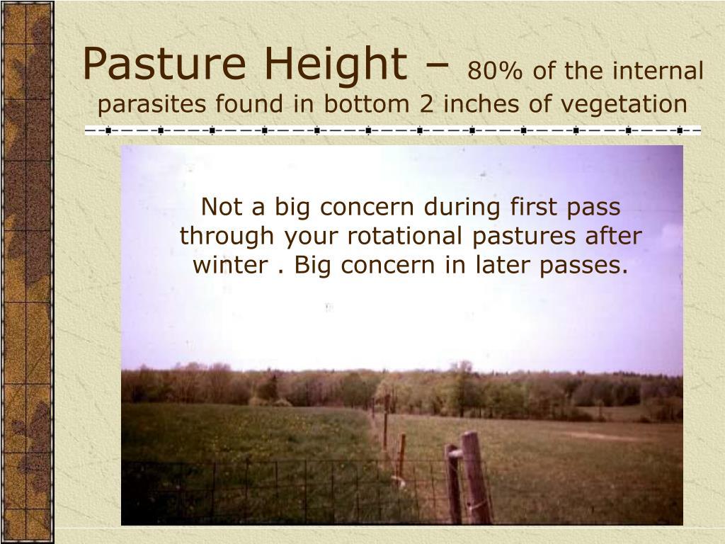 Pasture Height –