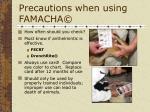 precautions when using famacha48