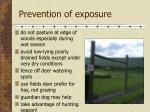 prevention of exposure