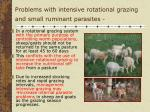 problems with intensive rotational grazing and small ruminant parasites