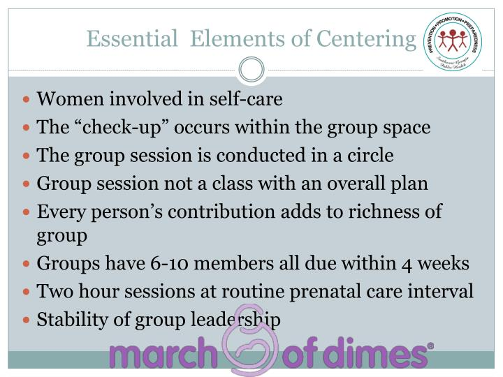 Essential  Elements of Centering
