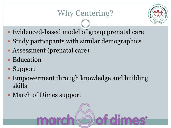 Why Centering?