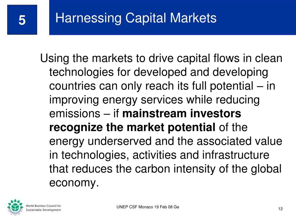Harnessing Capital Markets