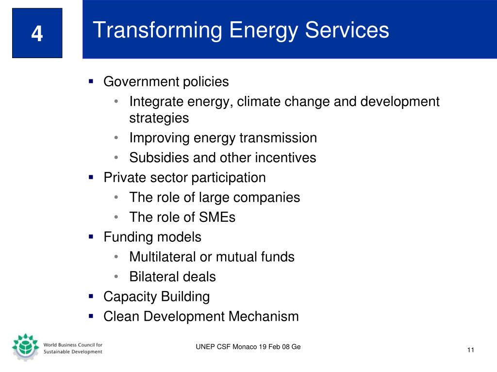 Transforming Energy Services