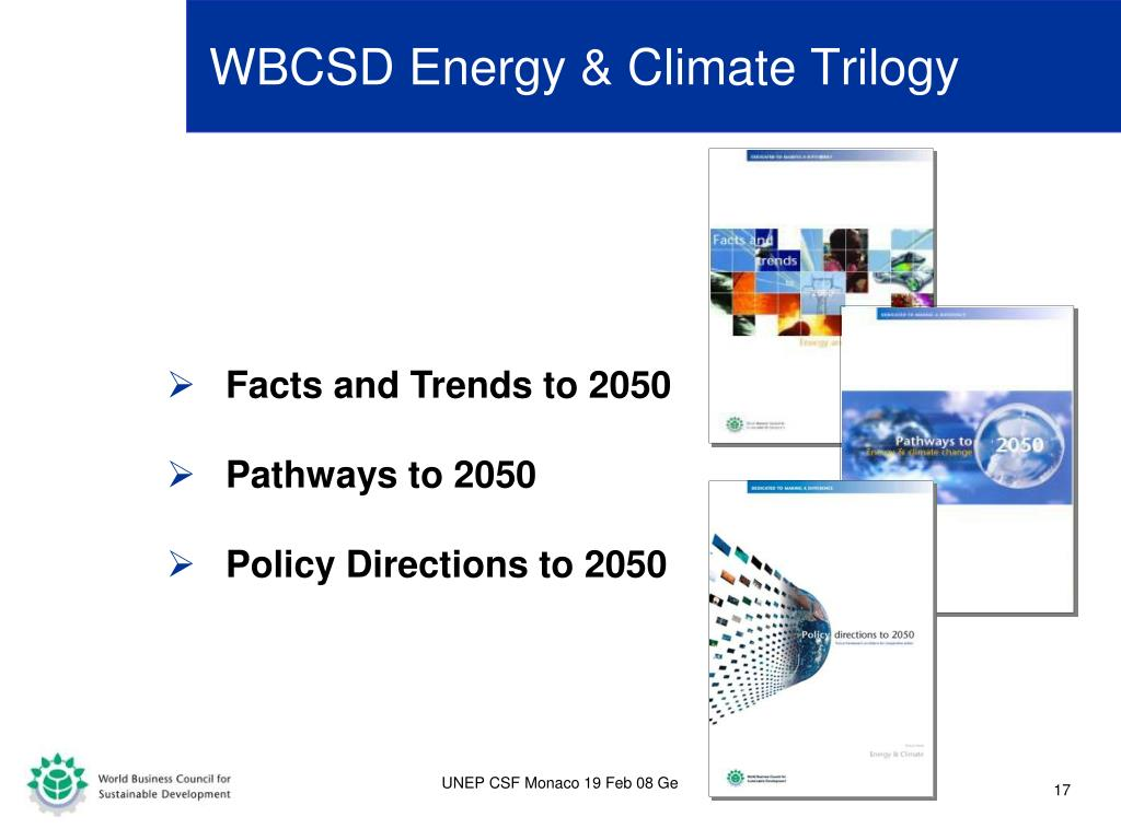 WBCSD Energy & Climate Trilogy
