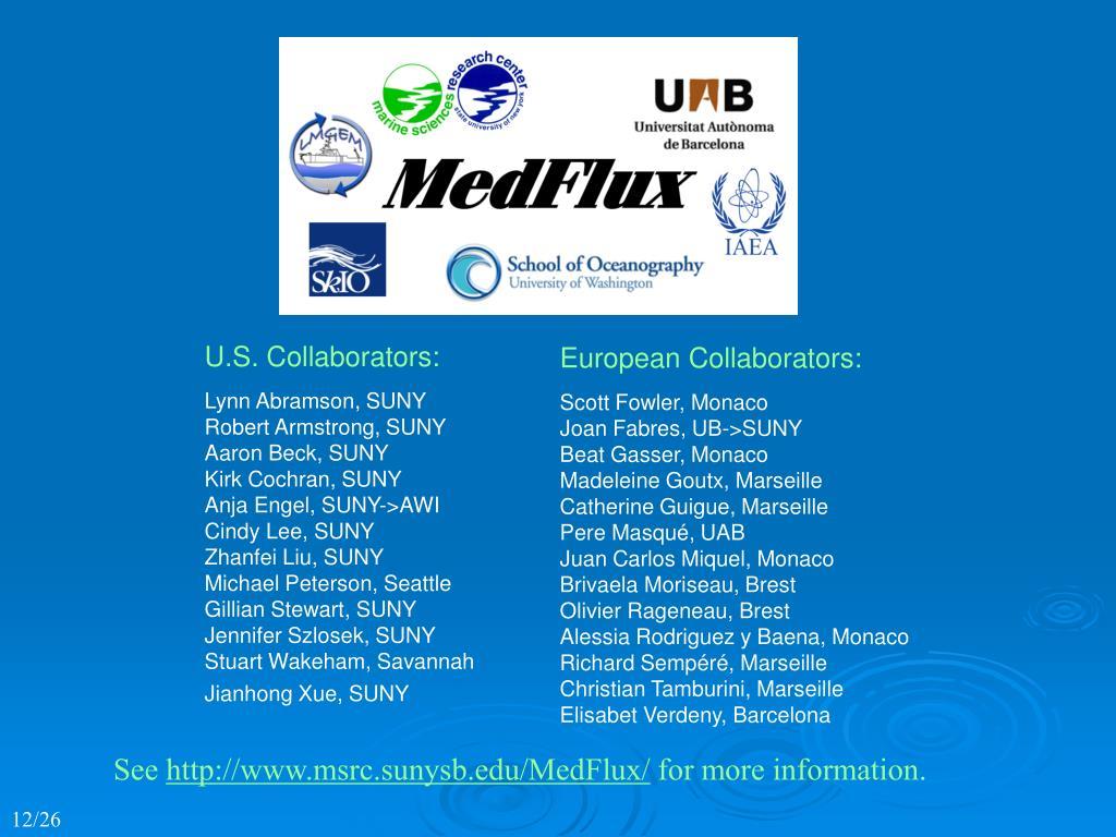 U.S. Collaborators:
