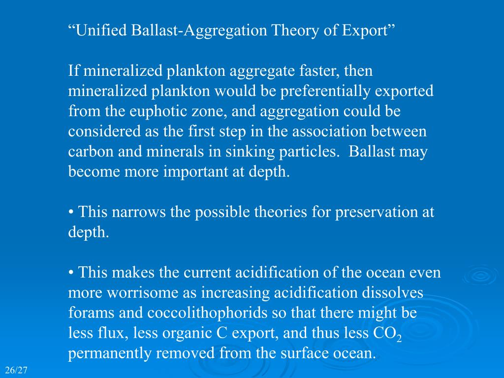 """Unified Ballast-Aggregation Theory of Export"""