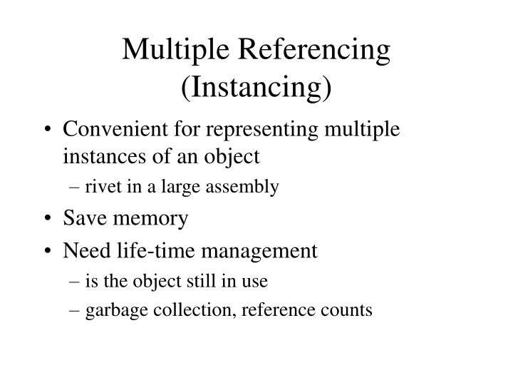 Multiple Referencing (Instancing)