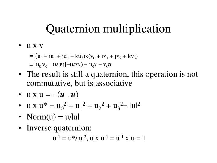 Quaternion multiplication