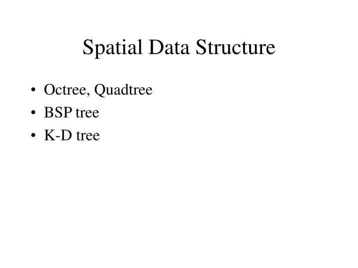 Spatial data structure