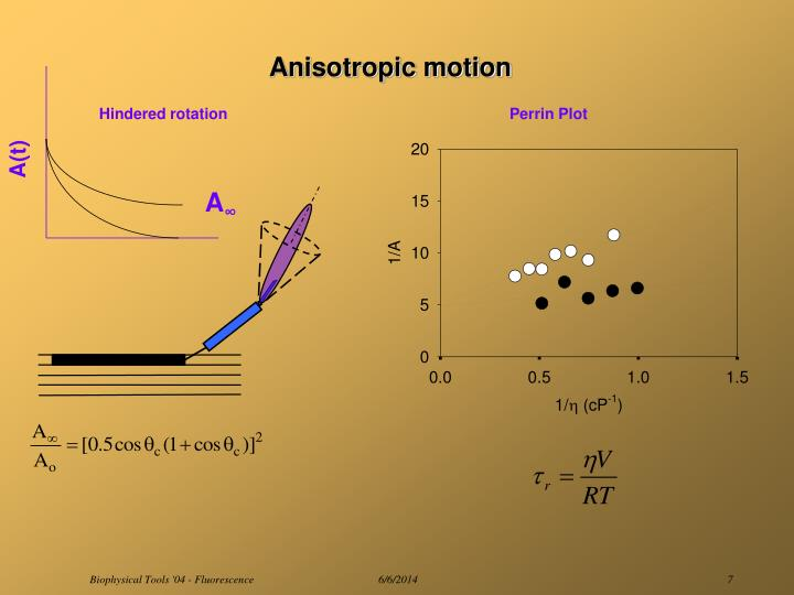 Anisotropic motion
