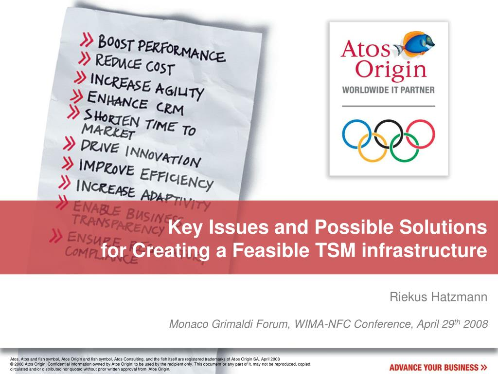 Key Issues and Possible Solutions