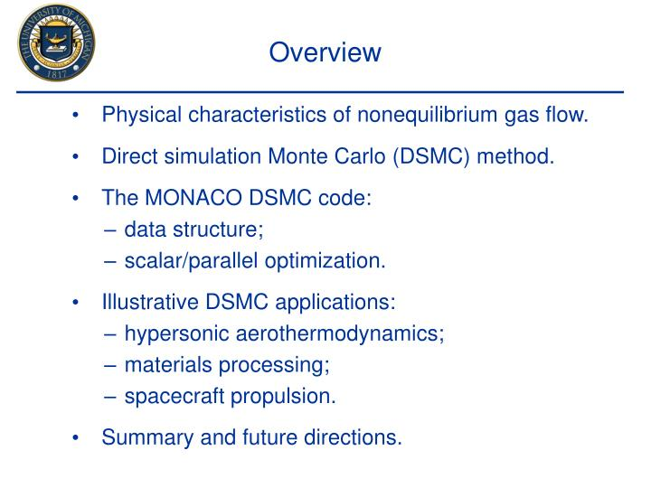 Physical characteristics of nonequilibrium gas flow.