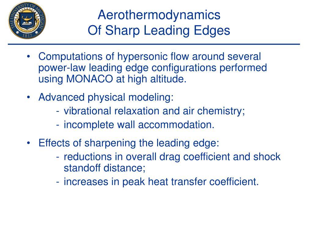 Aerothermodynamics