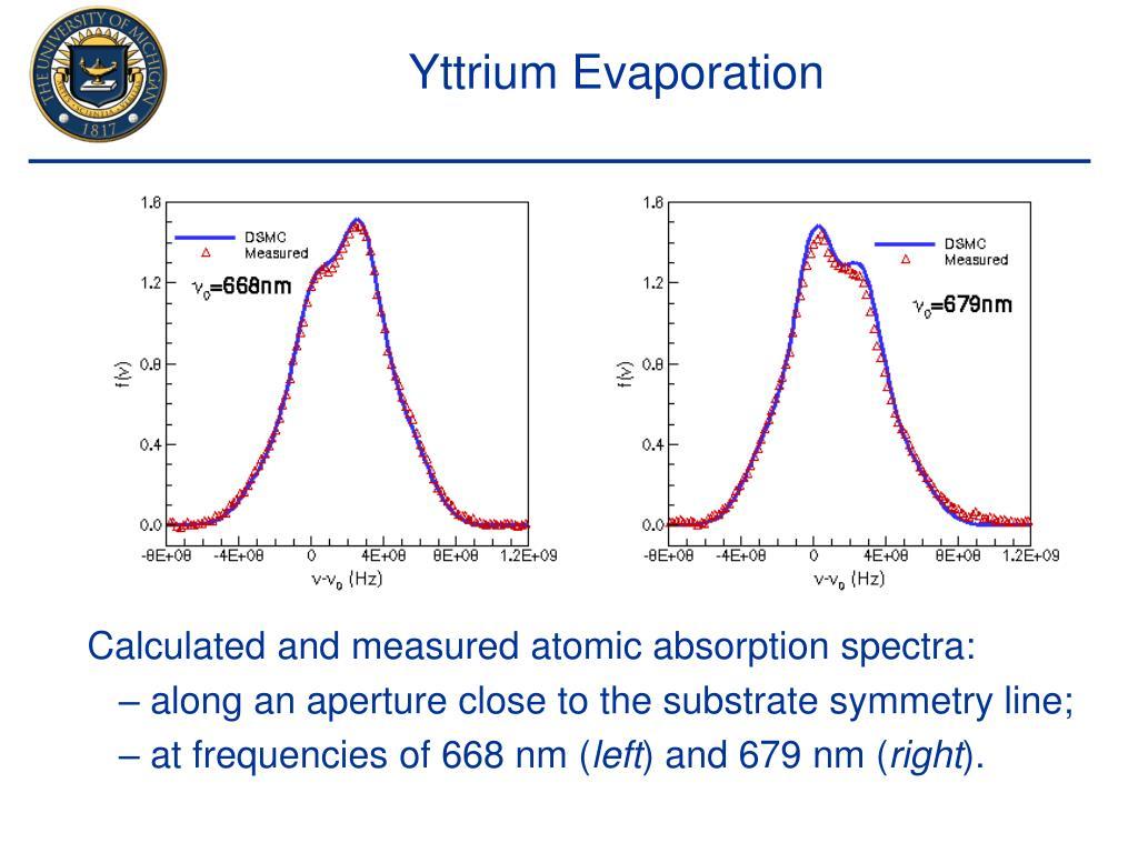 Yttrium Evaporation