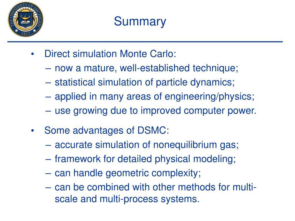 Direct simulation Monte Carlo: