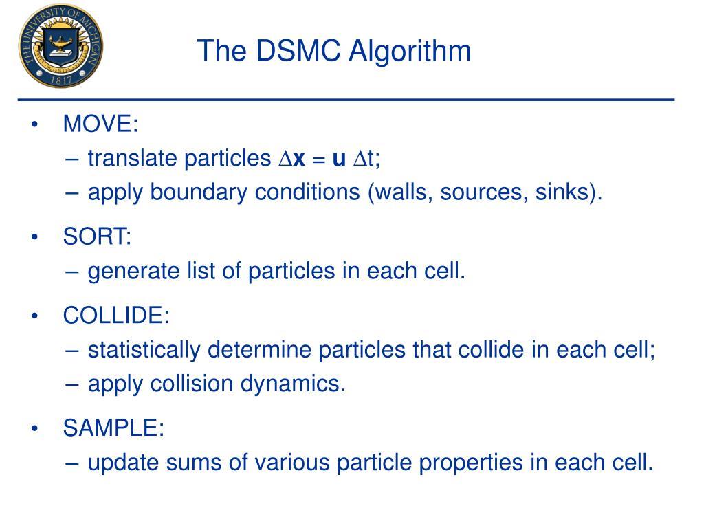 The DSMC Algorithm
