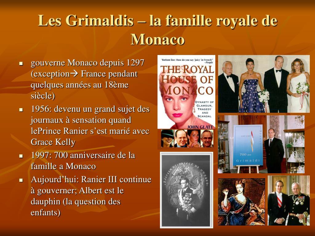 Les Grimaldis – la famille royale de Monaco