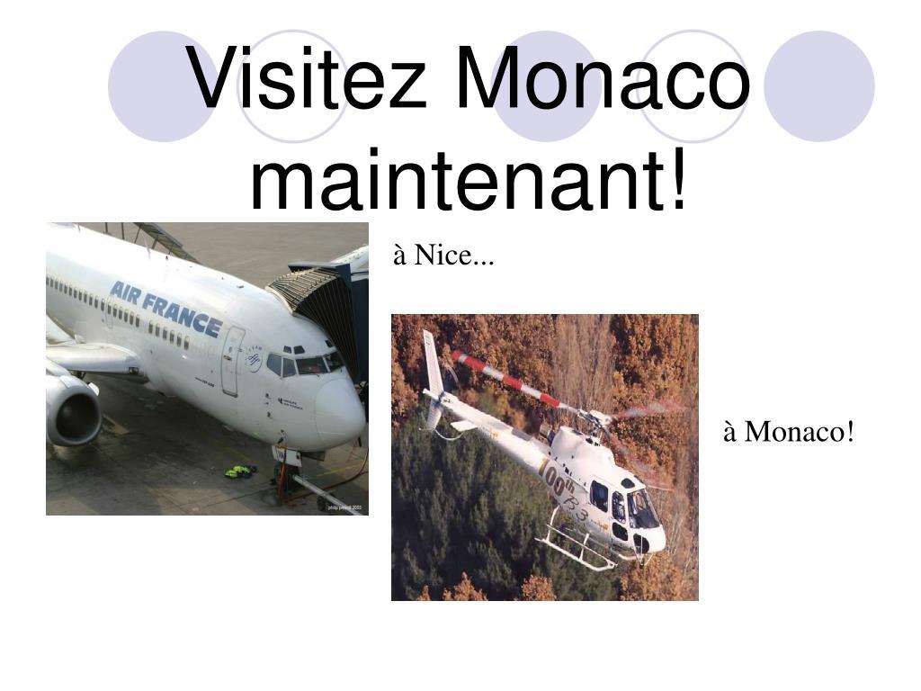 Visitez Monaco maintenant!