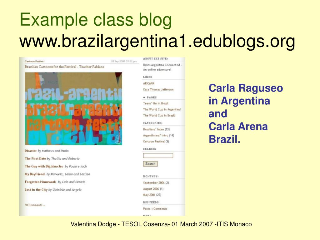 Example class blog