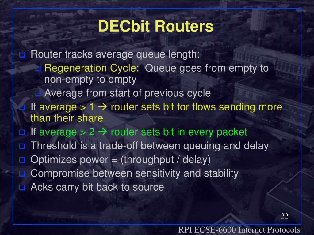 DECbit Routers