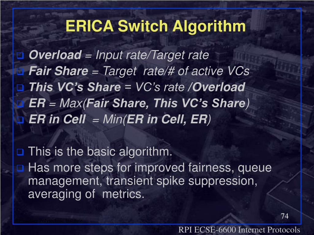 ERICA Switch Algorithm