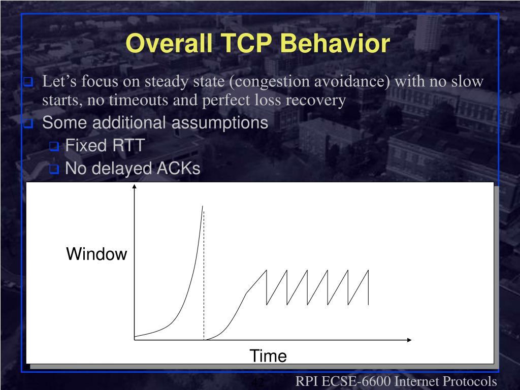 Overall TCP Behavior