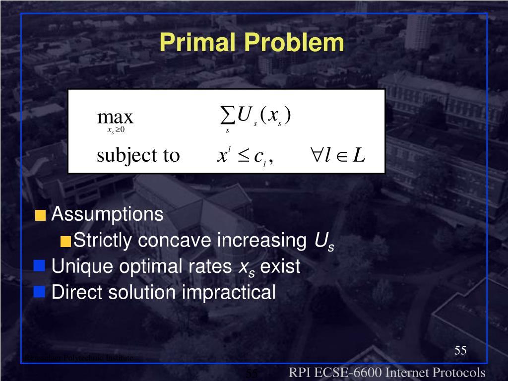 Primal Problem