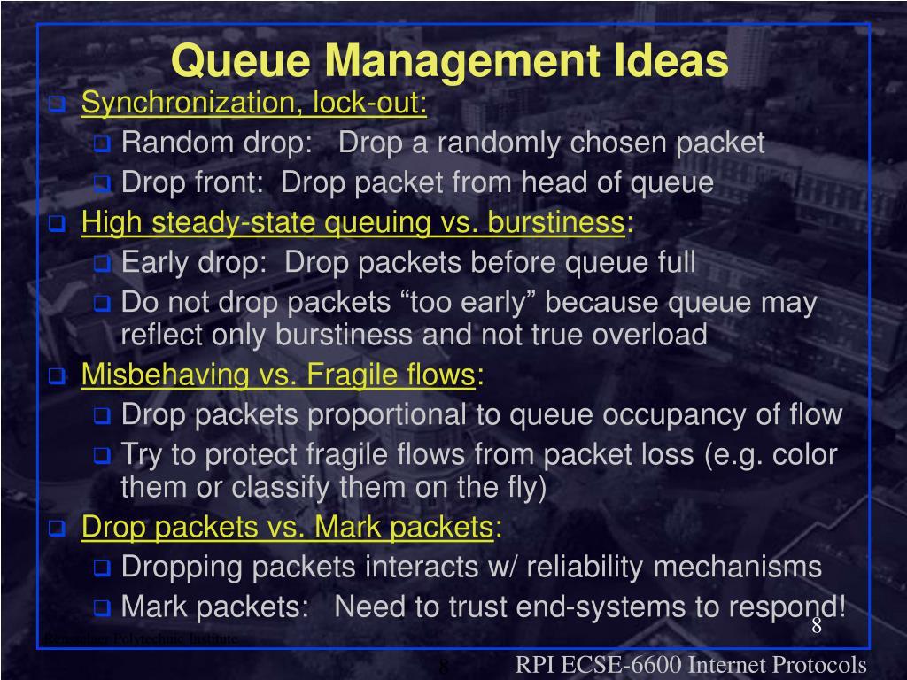 Queue Management Ideas