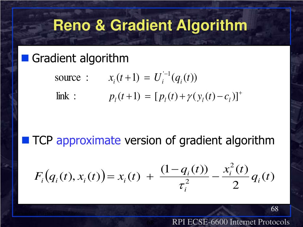 Reno & Gradient Algorithm