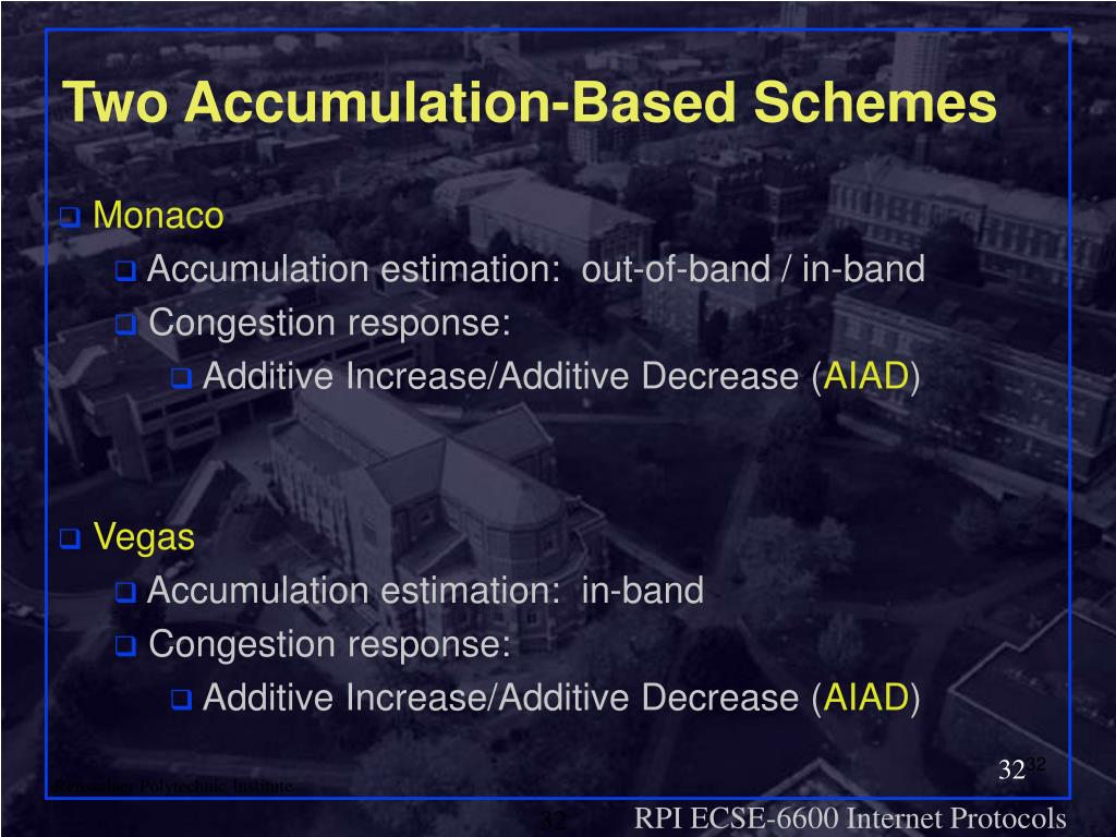 Two Accumulation-Based Schemes
