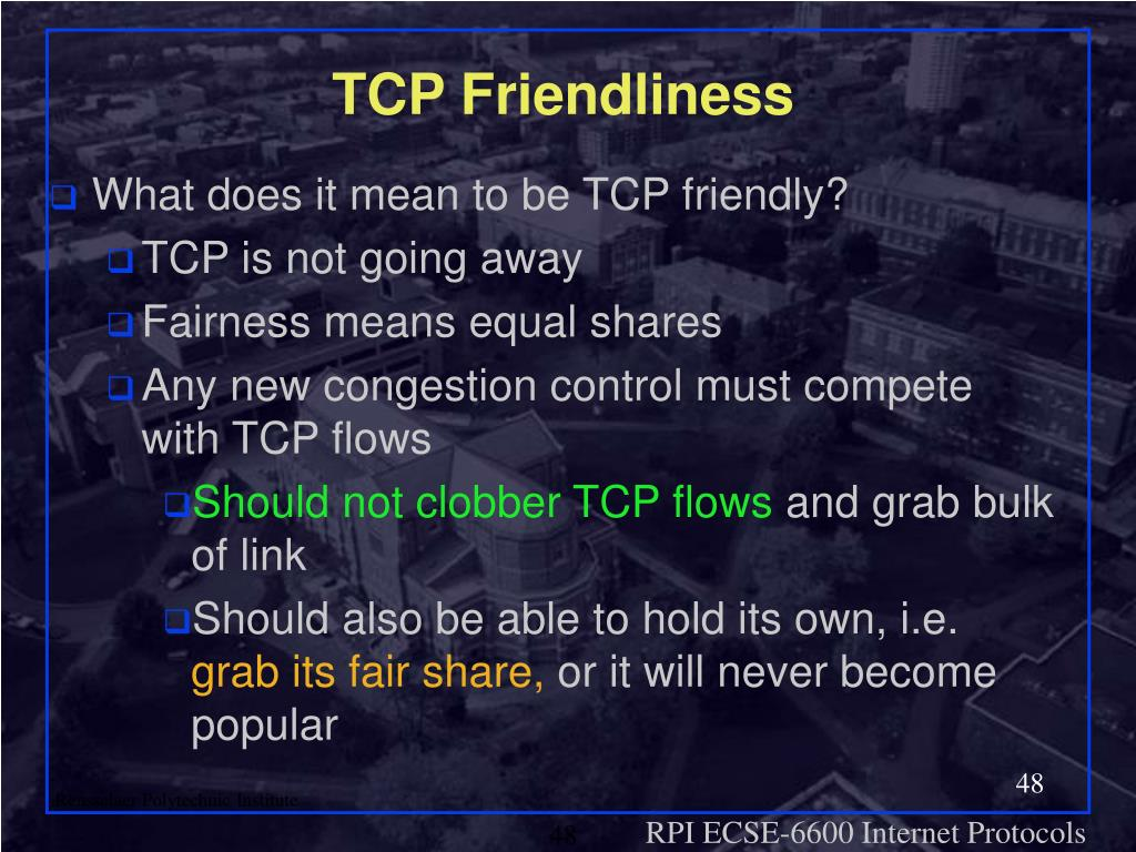 TCP Friendliness