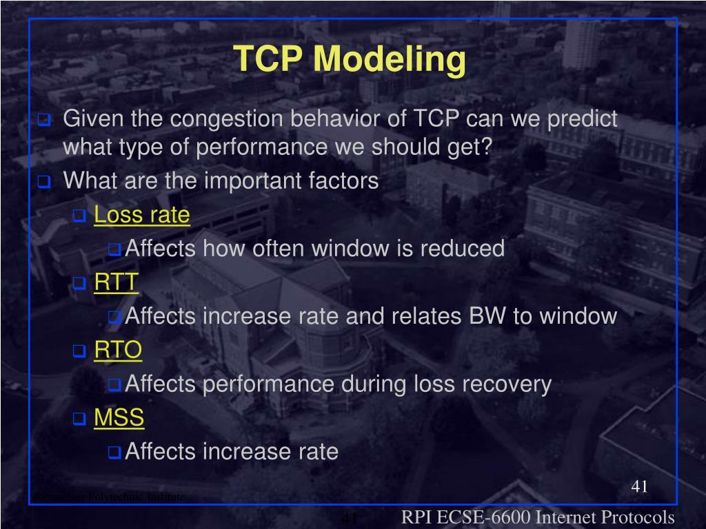 TCP Modeling