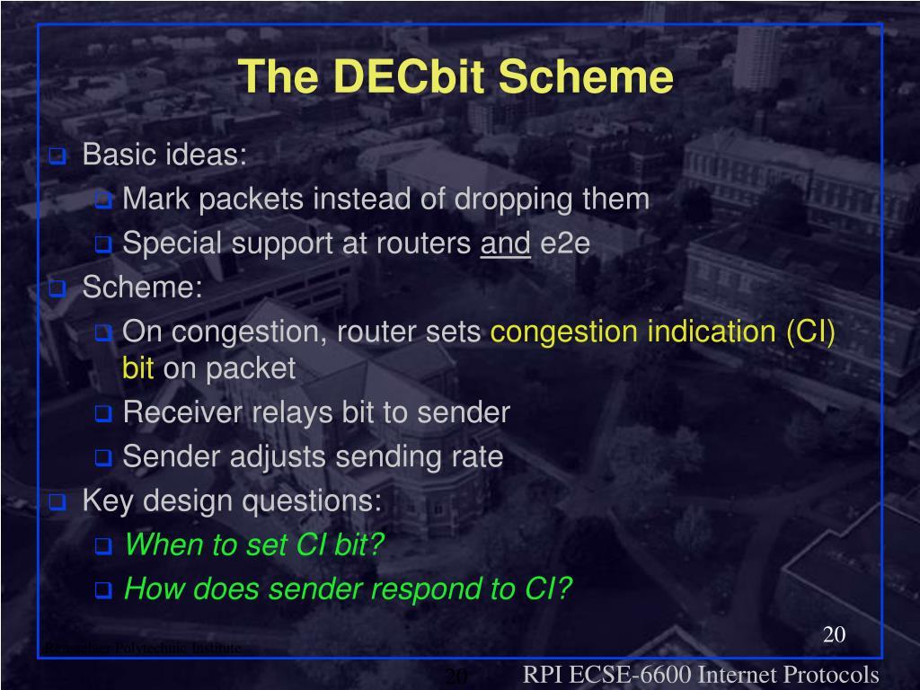 The DECbit Scheme