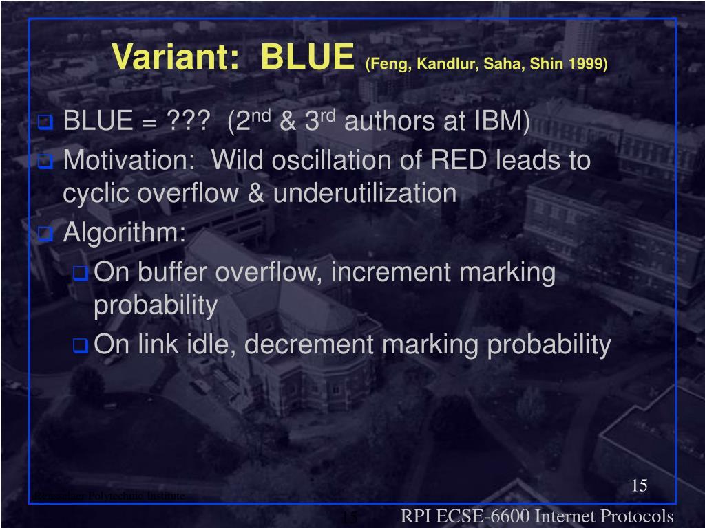 Variant:  BLUE