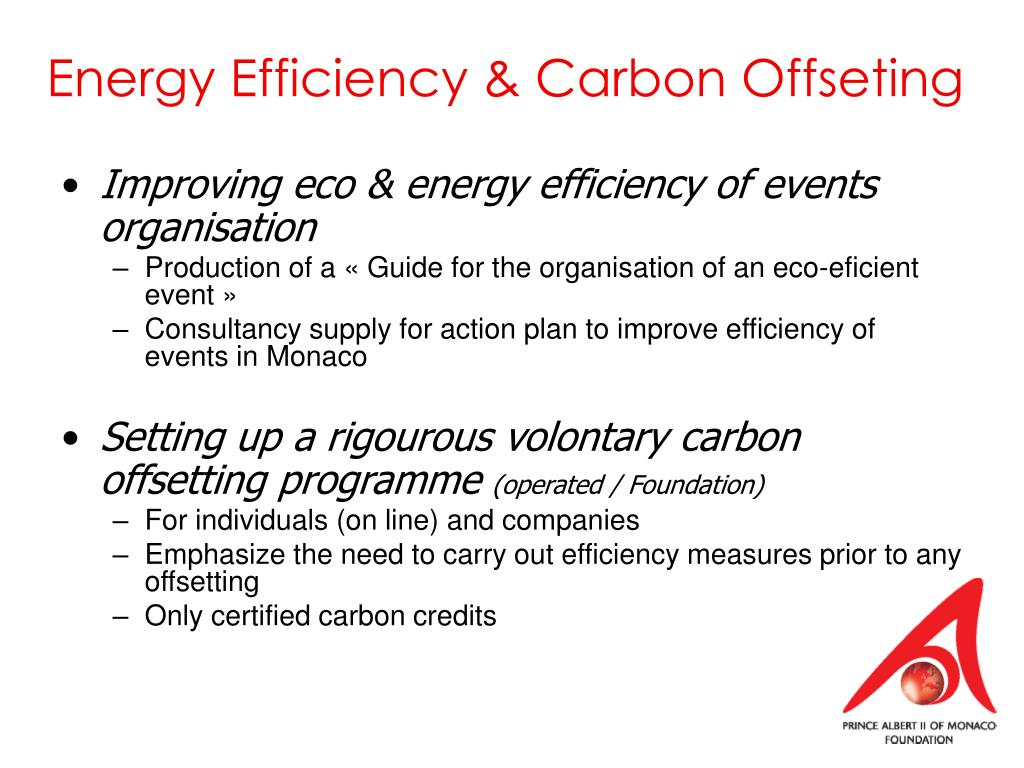 Energy Efficiency & Carbon Offseting