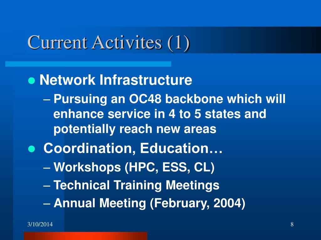 Current Activites (1)