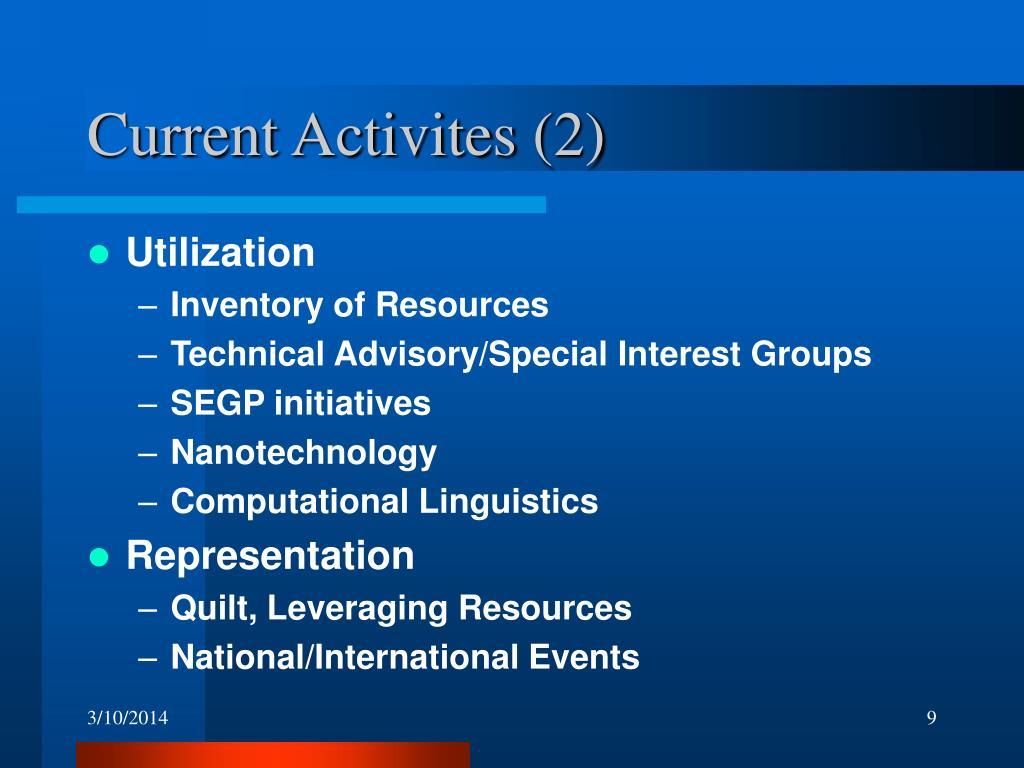 Current Activites (2)