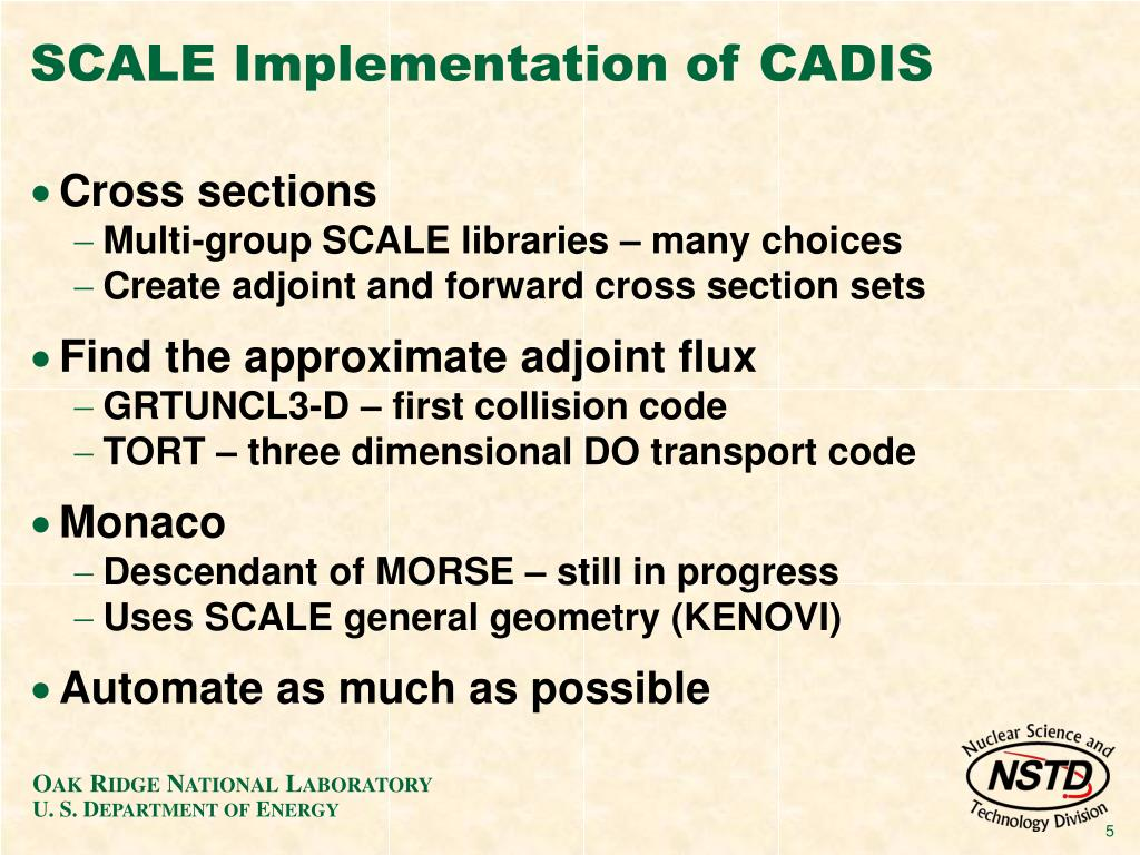 SCALE Implementation of CADIS