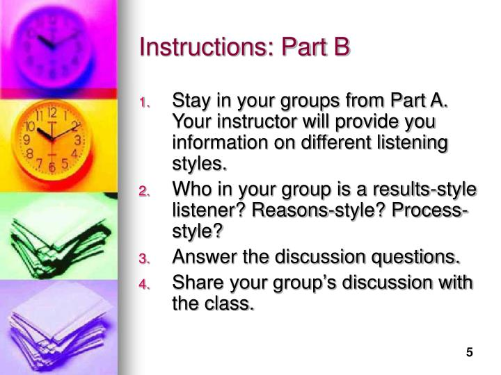 Instructions: Part B