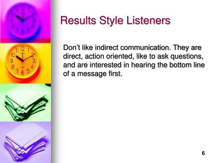 Results Style Listeners