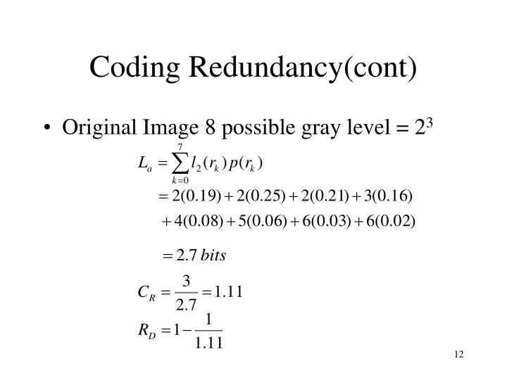Coding Redundancy(cont)