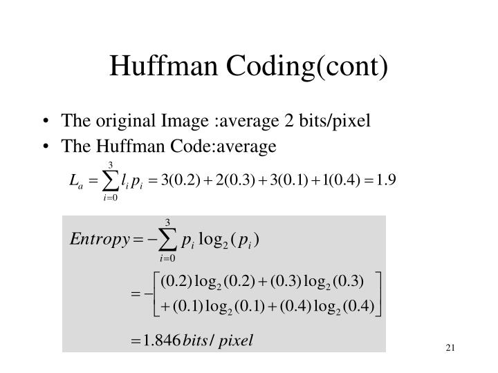 Huffman Coding(cont)